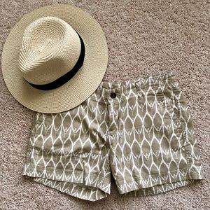 Tan and Cream Chevron Shorts